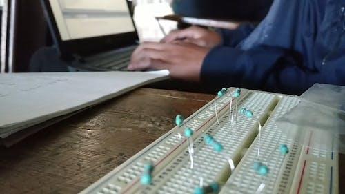 Man Working Using His Laptop