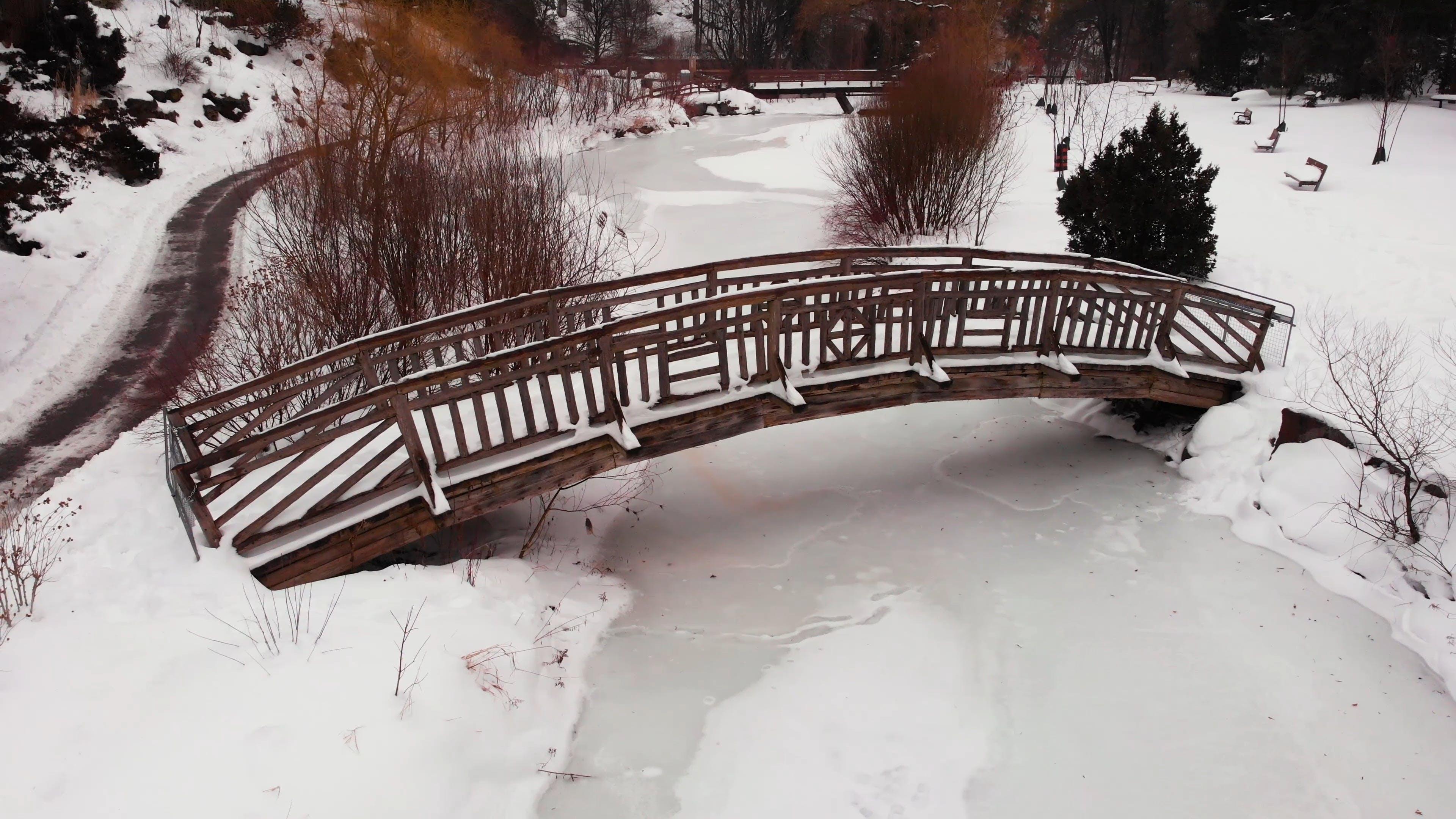 A Snow Covered Park