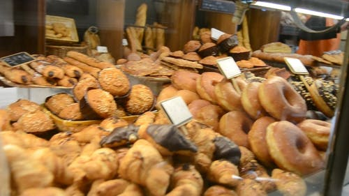 Variety Of Breads On Display