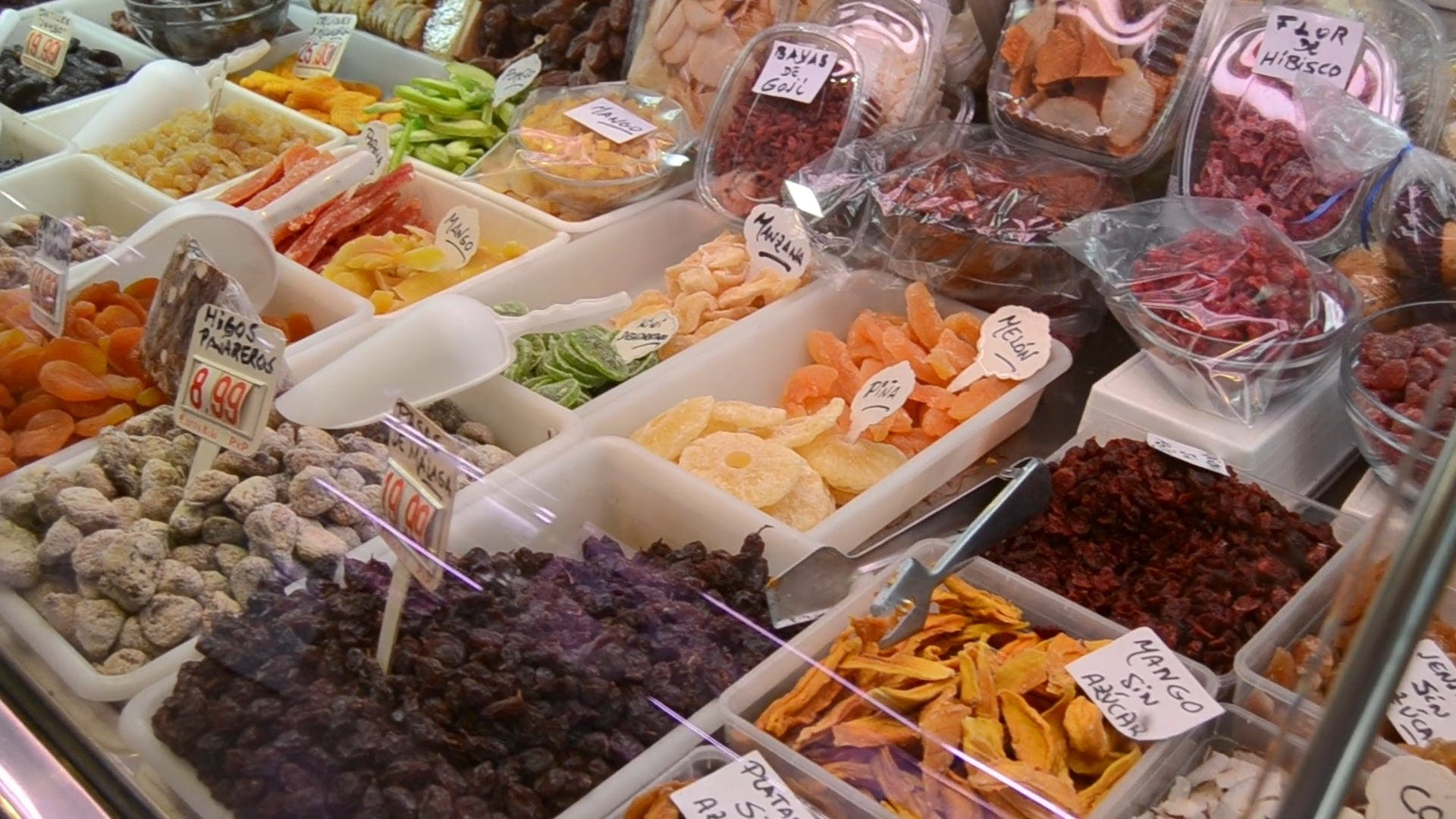 Variety Of Foods In Display