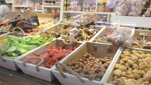 Different Kinds Of Food Display In The Market