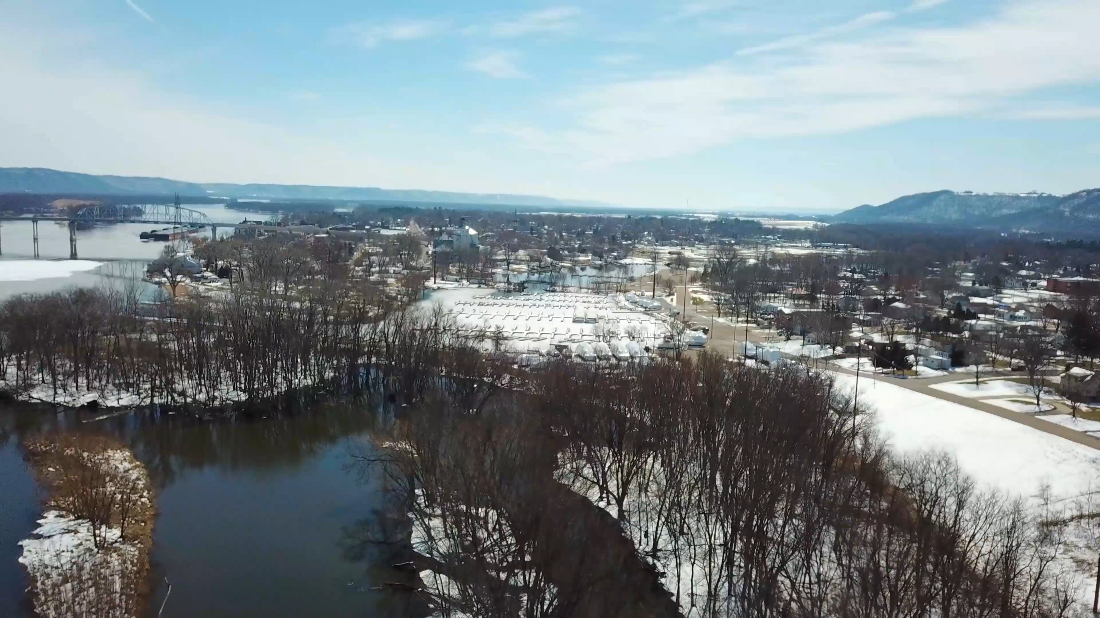 Aerial View Of A Winter Landscape