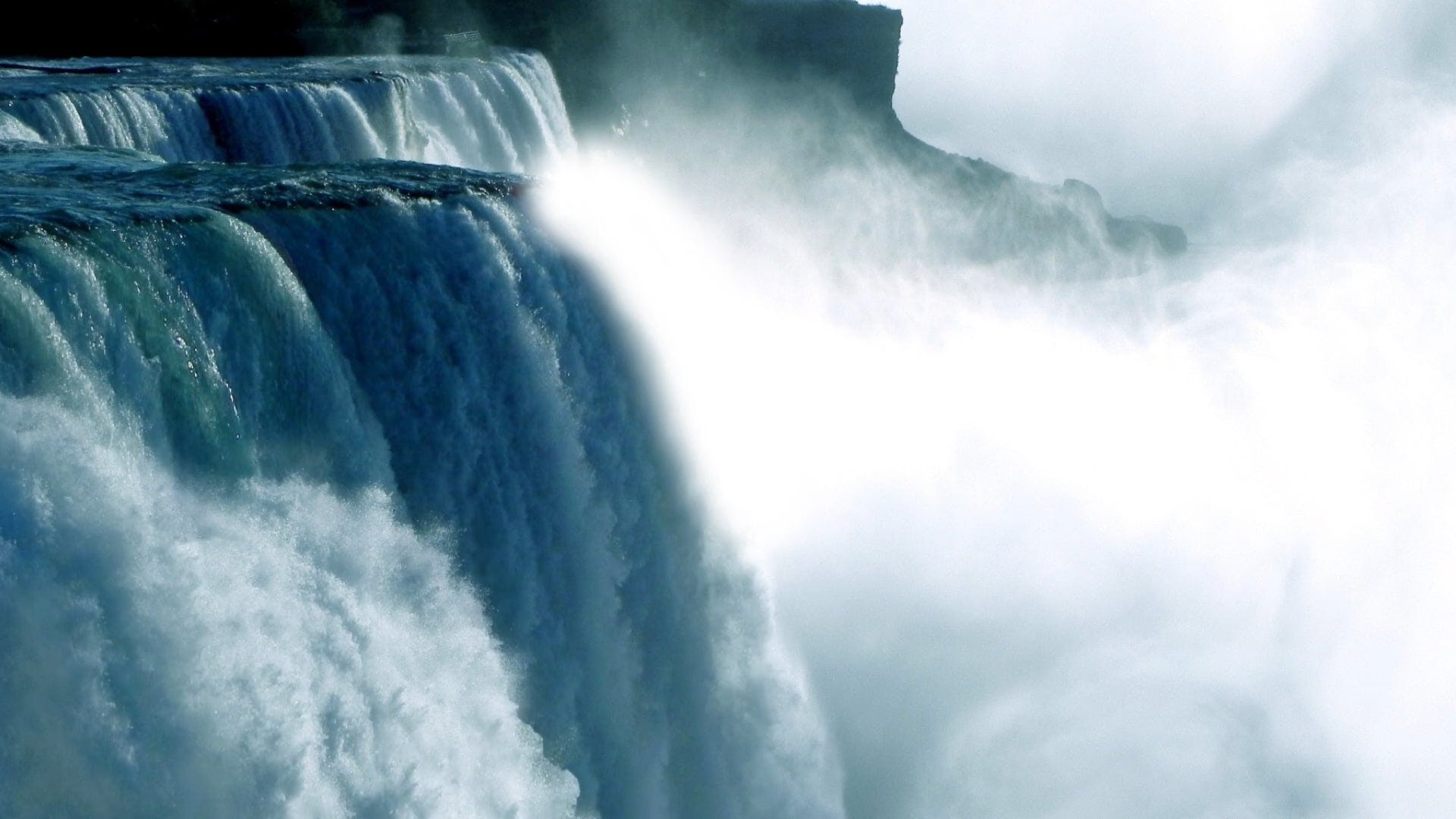 Amazing Shot Of Waterfalls In Slow Motion