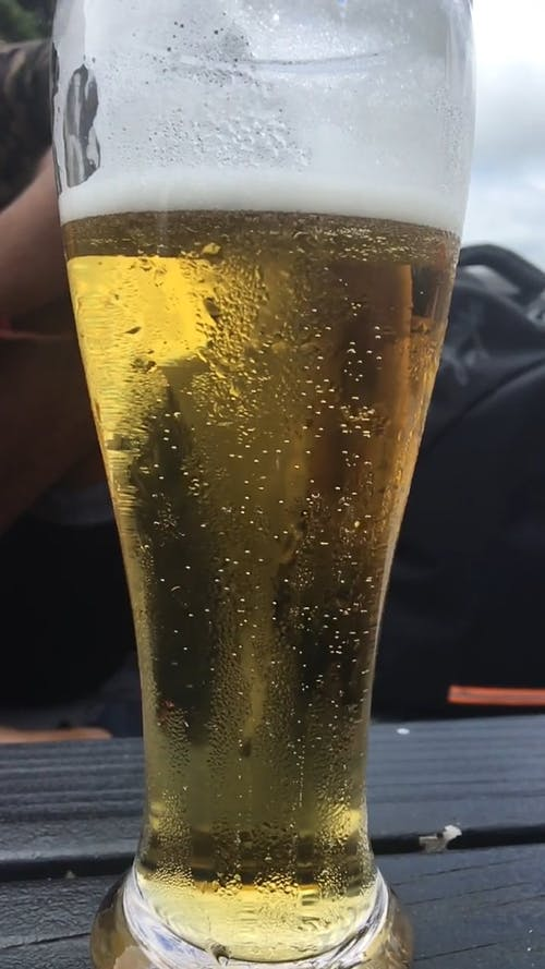 A Bubbling Glass Of Beer