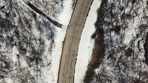 Drone View Of A Winter Landscape