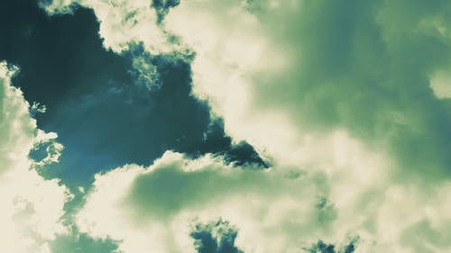 Clouds With A Shade Of Green Color