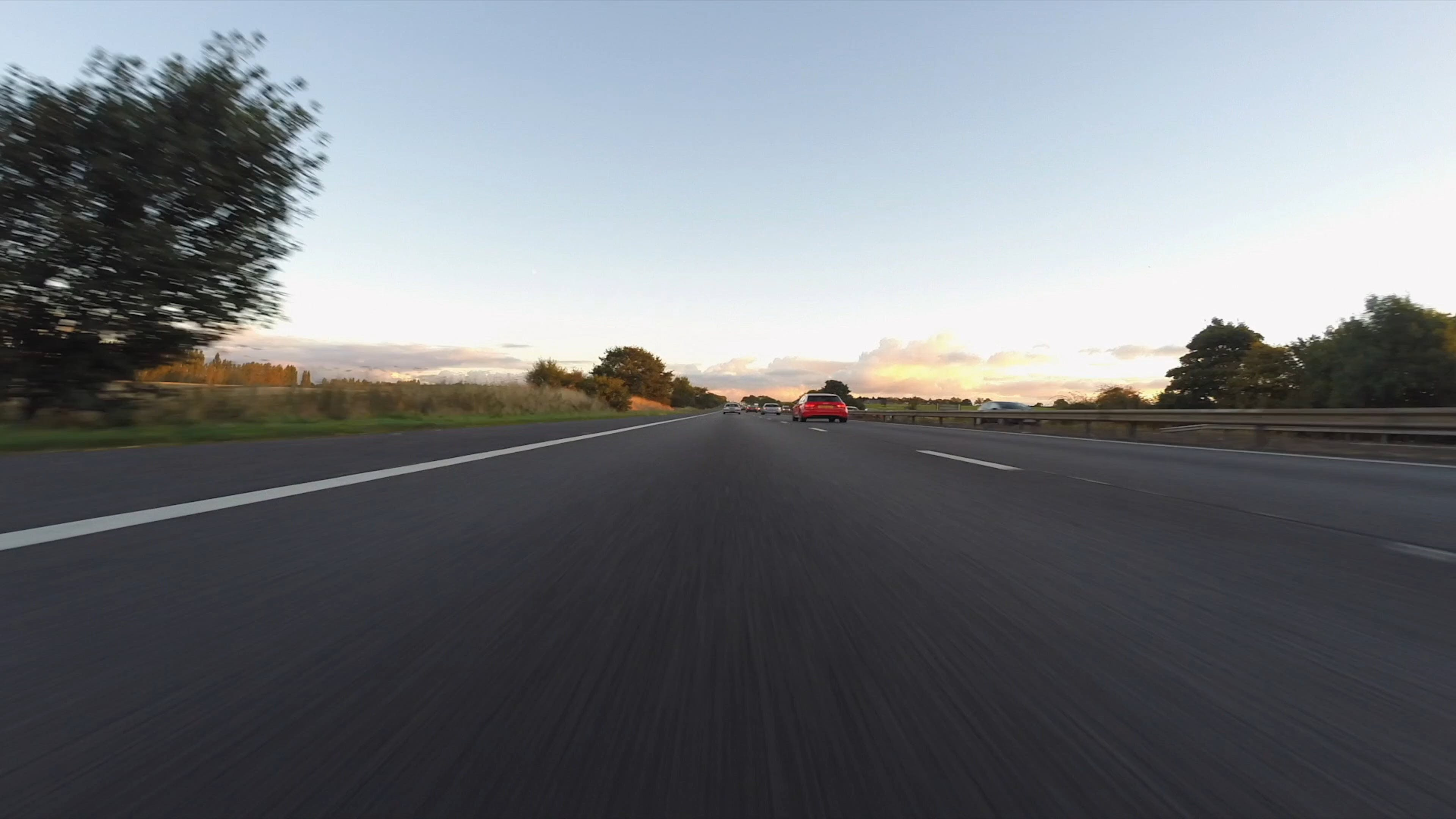 Vehicles Travelling In Timelapse Mode