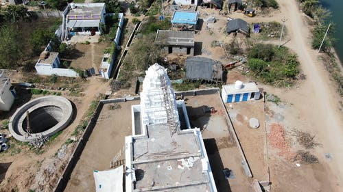 Aerial Shot Of Temple