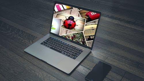 Laptop Showing Slideshow of Photos
