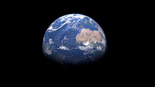 Close-Up View OF The Earth