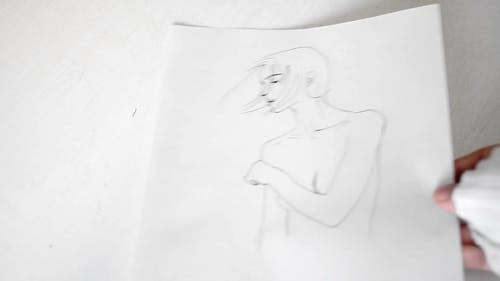 Different Sketches Of A Woman