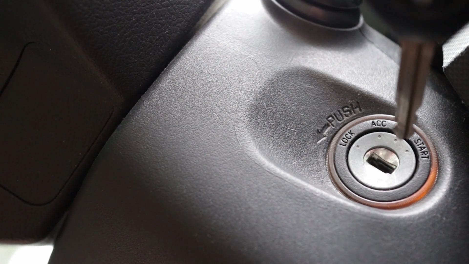Car Key In Close-Up View