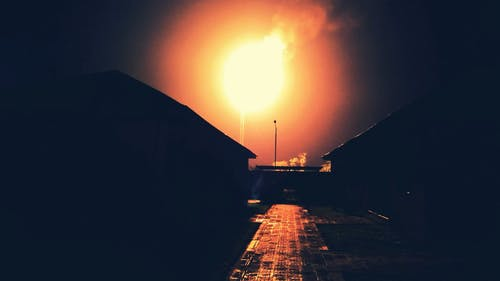 The Flame Of A Burning Industrial Torch