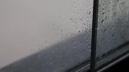 Rain Water On A Window
