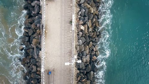 Aerial View Of A Breakwater
