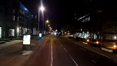 View Of Vehicles Travelling At Night