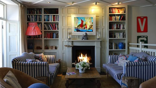 A Fireplace In A Living Room
