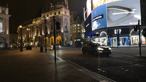 Night Time In The City Of London