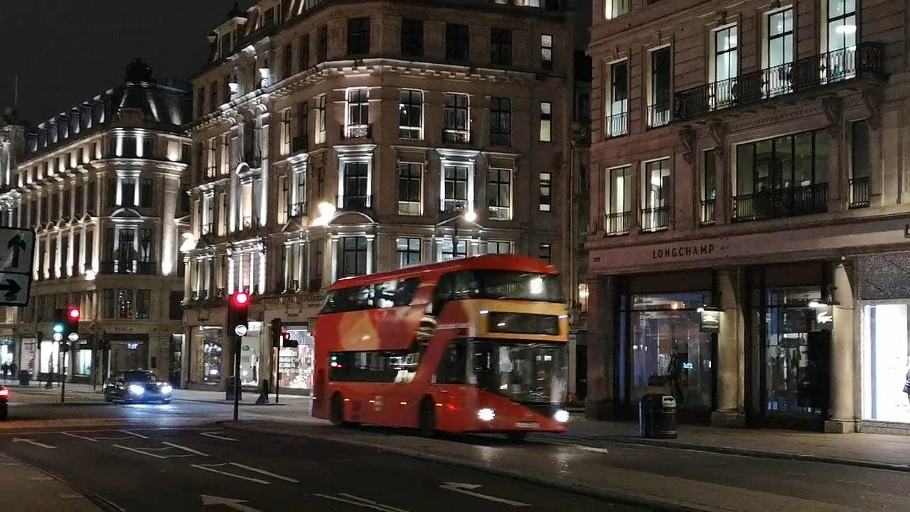 Red Double Decker Buses In The Streets Of London