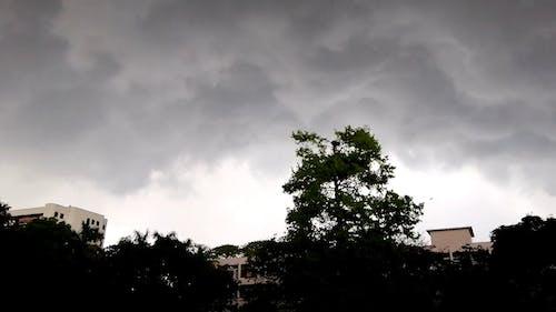 Dark Clouds Above Buildings