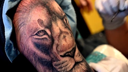 Tattooing In Close-Up View