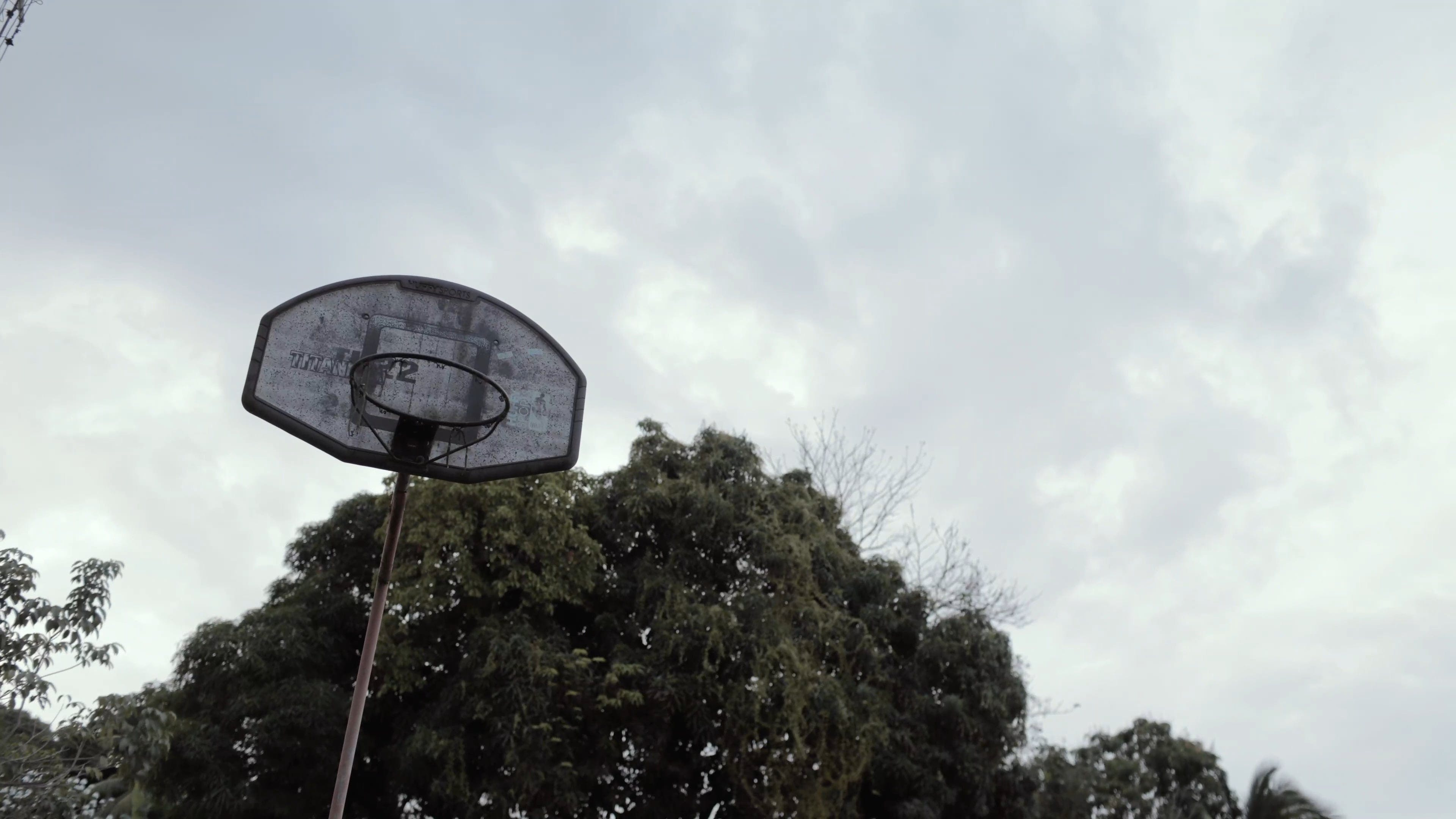 Basketball Hoop In Low Angle Photography