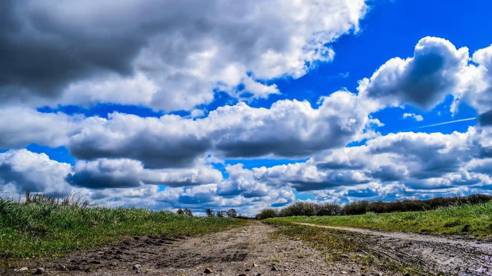 Clouds Under A Blue Sky