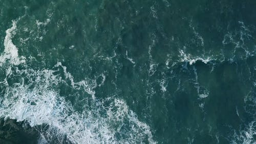 Aerial View Of Waves In The Sea
