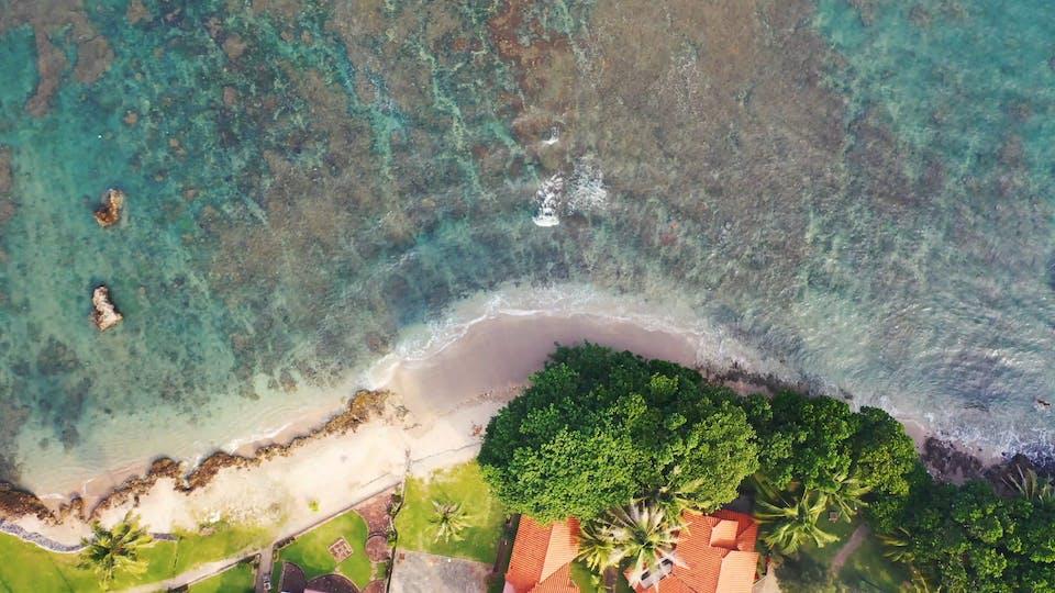 Aerial View Of Beautiful Resort
