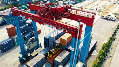 Transport Of Containers In A Harbor