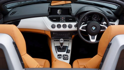 Car Interior Of A BMW