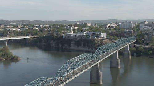 A Foot Bridge Across A River