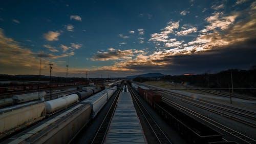 A Train Yard And Railway Depository