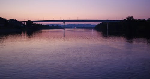A River System At Dawn