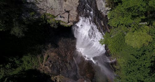 Aerial Shot Of Waterfalls