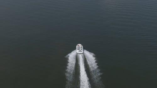 Speedboat Travelling Across The Sea