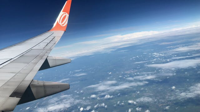 Airplane On Its Flight