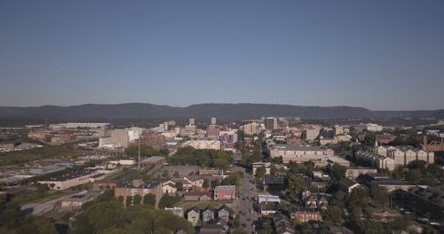 Aerial Footage Of City of Chattanooga, Tennessee