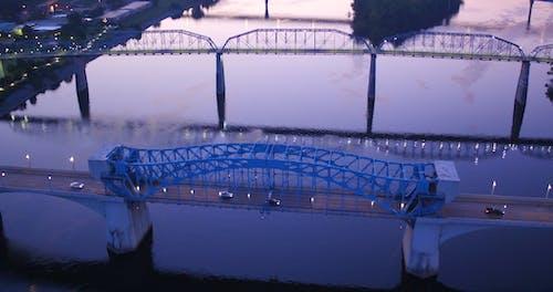 Aerial Footage Of  A Bridge