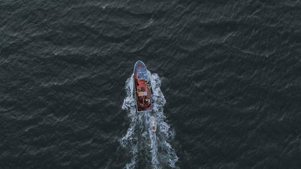 A Sailing Fishing Boat