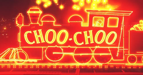 A Lighted Sign Board