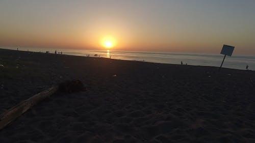 Sunset View Over The Horizon