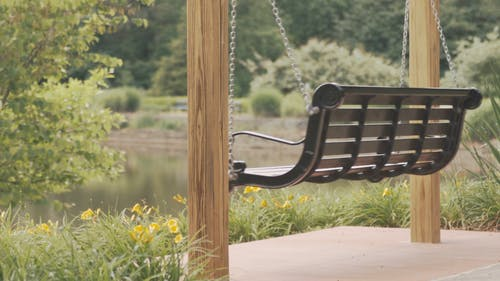 Swing Chair In A Porch