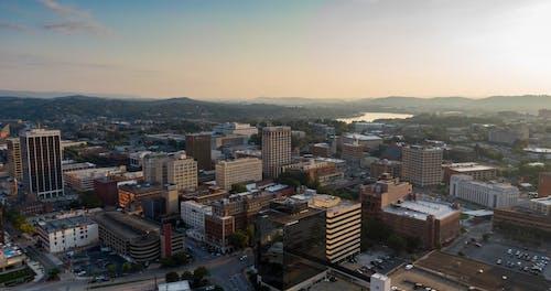田纳西州一个小镇的鸟瞰图