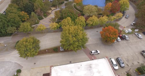 Aerial Footage Of A City Landscape