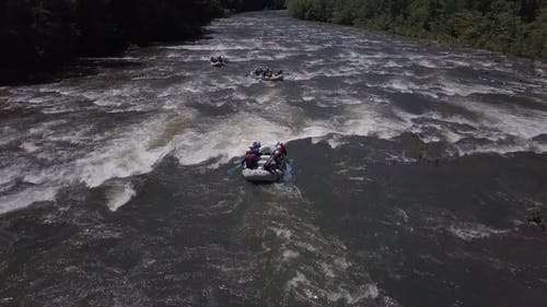Rafting In A River