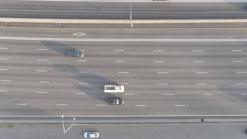 Vehicle Traffic Footage From Above