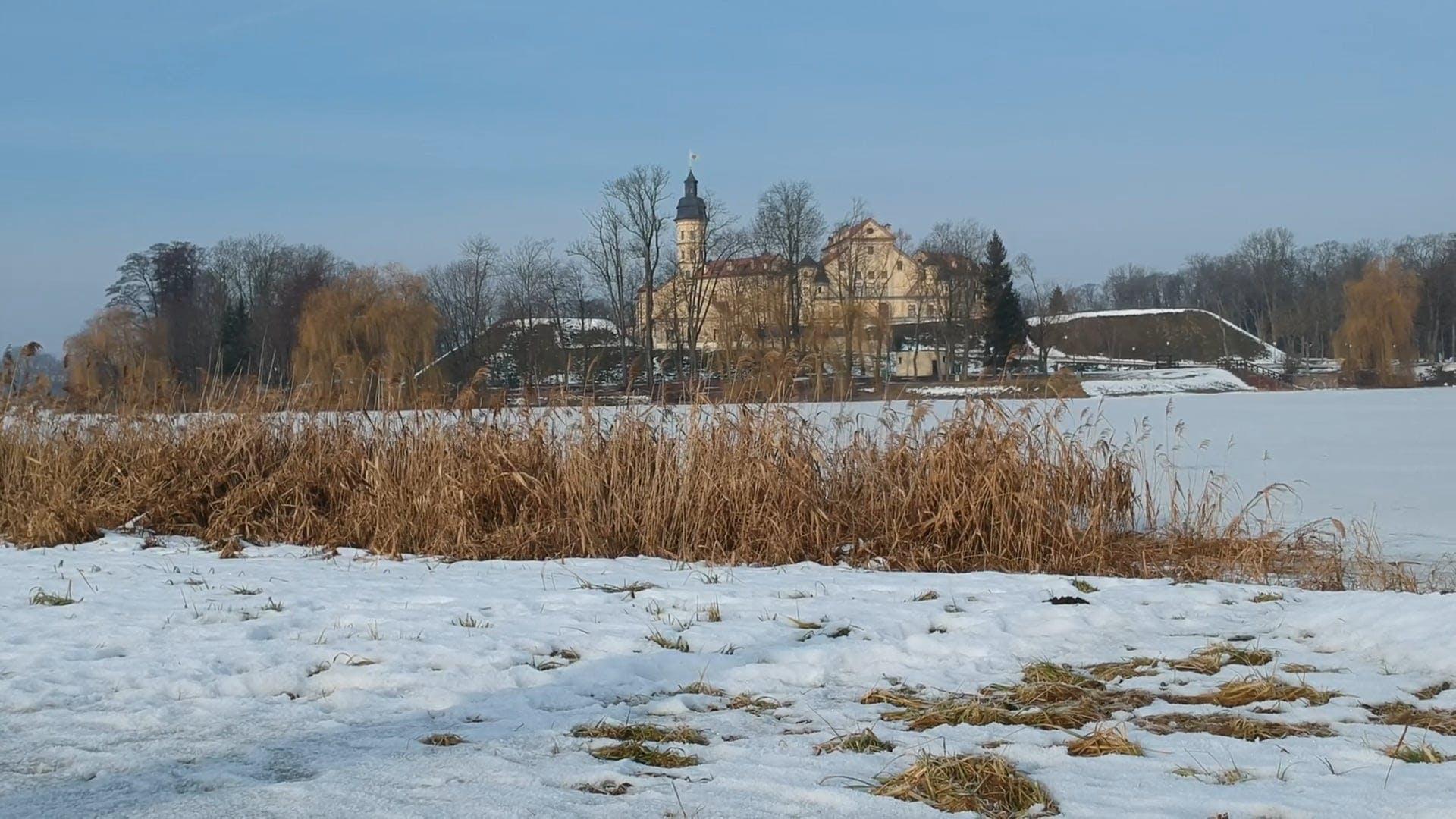 Mansion In A Winter Landscape