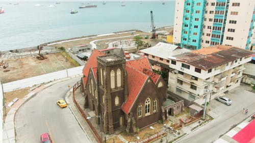 Drone Footage Of A Church