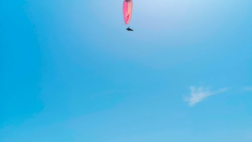 Paragliding Under A Blue Sky
